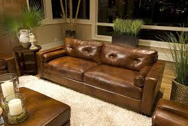 Rustic Wooden Couch Amazon Com Elements Soho Top Grain Leather Sofa Rustic Leather