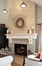 rock fireplace makeover binhminh decoration