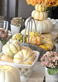 Fall Table Settings by My Fancy Frugal Fall Table Setting