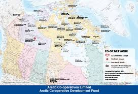 Arctic Map Canadian Arctic Co Operatives Services Accounting Construction