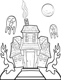 haunted house color coloring pages haunted house