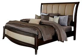 Leather Sleigh Bed Liberty Furniture Sunset Boulevard King Sleigh Bed In Coffee Bean
