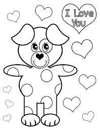 love coloring pages puppy love hearts coloringstar