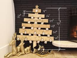 christmas tree wood christmas lights decoration