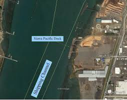 Eureka California Map Sierra Pacific Eureka Dock Humboldt Bay Harbor District