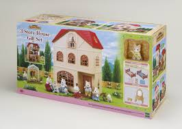 sylvanian families 3 story house gift set store petit