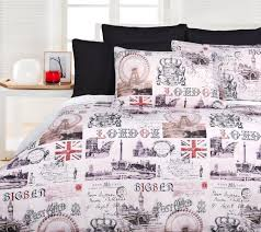 Passport Bed Set Old London Quilt Doona Duvet Cover Set Bedding Big Ben British