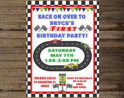 nascar invitation etsy