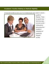 how to avoid fraudulent transfers in california medicaid planning