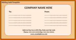 7 mailing label template divorce document
