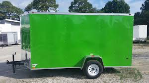 6x12 sa trailer bright green ramp side door extra height