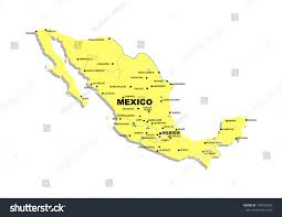 Map Of Mexico by Simple Map Mexico Stock Illustration 149162765 Shutterstock