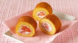 mini strawberry roll cake without oven swiss roll フライパンで