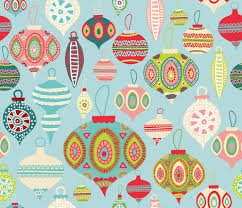 ornaments fabric by honeycomb design studio on