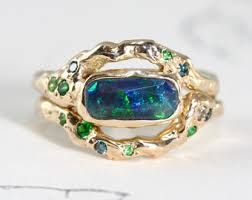 Opal Wedding Ring Sets by Opal Ring Set Etsy