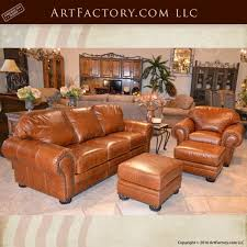 Leather Sofa And Chair Set Traditional Custom Leather Sofa And Chair Set Custom Epidermis