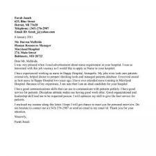 cover letter for nursing jobs the 25 best nursing cover letter