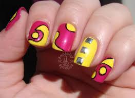 55 most stylish yellow and pink nail art design ideas
