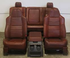 Ford F350 Truck Seats - 2008 2010 ford king ranch front u0026 rear seat leather ebay