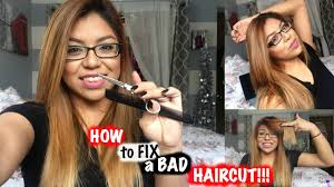 how to fix a bad haircut trim your own hair youtube