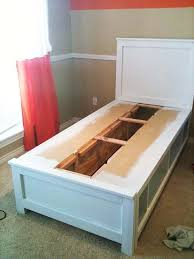 Twin Platform Bed Plans Storage by Great Twin Captains Bed Plans And Ana White Full Storage Captains