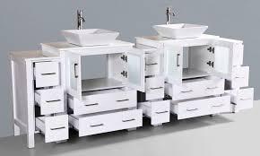 contemporary 96 inch double sink bathroom vanity set with mirror