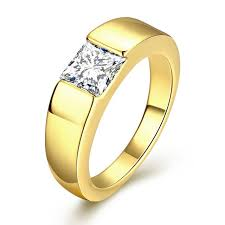 men gold rings megrezen engagement ring men cubic zirconia wedding ring men