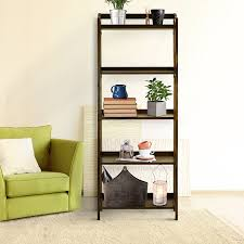amazon com casual home stratford 5 shelf folding bookcase warm