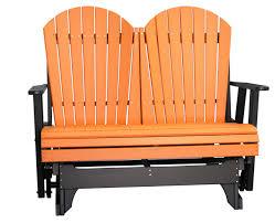Gliding Adirondack Chairs 4 U2032 Adirondack Glider Polywood Dutch Haus Custom Furniture