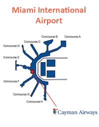 miami airport terminal map cayman airways terminal maps guide