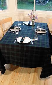 Coffee Table Cloth by Rectangular Tartan Tablecloth By Scotweb