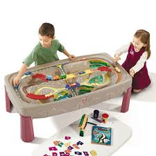 step2 wheels table step 2 deluxe canyon road track train table sam s club