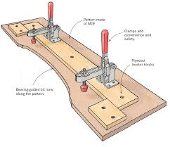 cabinet door router jig pattern routing jig finewoodworking