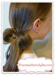 hairstyles with one elastic 1 elastic bow made from hair easy hairstyles princess hairstyles