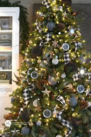 Black White Christmas Decorations For Trees by Black U0026 White Christmas Style Series Plaid Christmas White