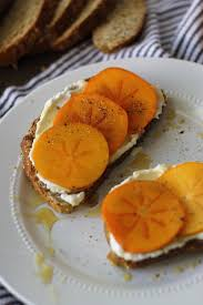 ricotta honey and cracked pepper persimmon toast u2014 my diary of us