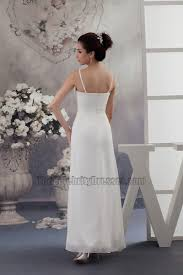 Informal Wedding Dresses Uk Simple Chiffon A Line Spaghetti Straps Informal Wedding Dresses