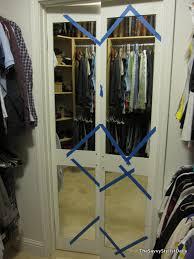 closet mirror door makeover