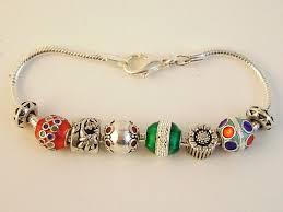 pandora inspired ornaments charm bracelet flower