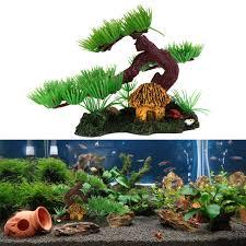 aquarium decorations artificial plant tree aquarium fish tank