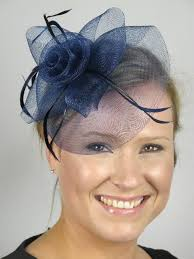 navy blue fascinators blue hair clip fascinators