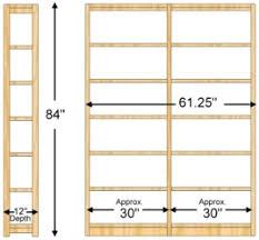 84 Inch Bookcase 12 X 84 X 60 Bookcase