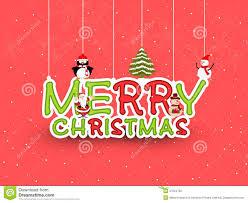 merry celebration with penguin stock illustration