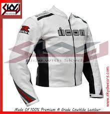 white leather motorcycle jacket motorcycle biker suzuki icon gsxr racing white leather jacket