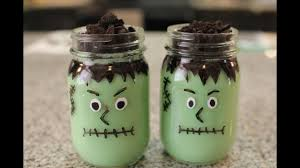 frankenstein pudding cups diy halloween treats youtube