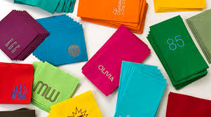napkins matches and barware personalized napkins matches and