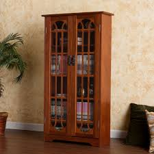 Cd Storage Cabinet With Doors by Curio Cabinet Mission Style Dvd Cabinet Curio Antique Oak