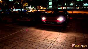 ferrari headlights at night ferrari pop up lights youtube