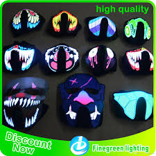 led glowing mask high quality waterproof face mask light up