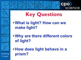 what is light in science light and optics cpo science key questions what is light how
